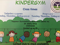 Infant Kindergarten Gymnastics Yeppoon